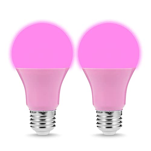 JandCase A19 Green LED Light Bulb E26 Medium Base 5W Color Light Bulbs Party Decoration 40W Equivalent Home Lighting Porch 2 Pack