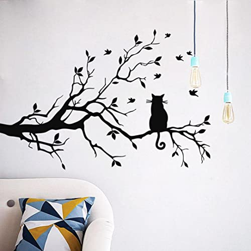 Buy Aimtoppy Cat On Long Tree Branch Wall Sticker Animals Cats Art Decal Kids Room Decor Online In Zambia B01ln7vc1e