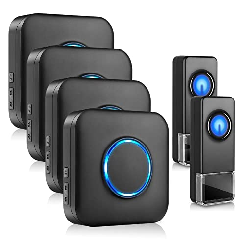 Waterproof Door Bells /& Chimes Wireless Kit Wireless Doorbell Wireless Doorbells for Home Door Bell Chimes Wireless -Over 1000 Foot Range 58 Chimes 1 Pack 5 Volume Levels with LED Flash