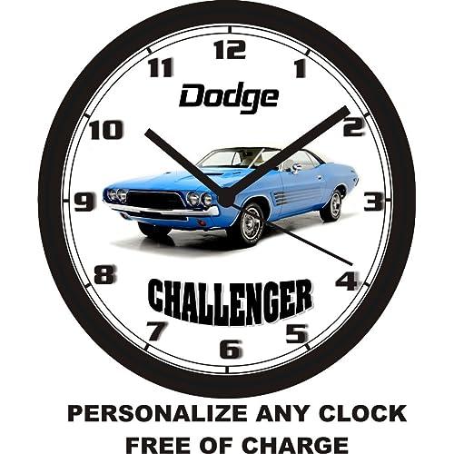 Buy 1973 Dodge Challenger Super Blue Wall Clock Free Usa Ship Online In Zambia B00h0560de