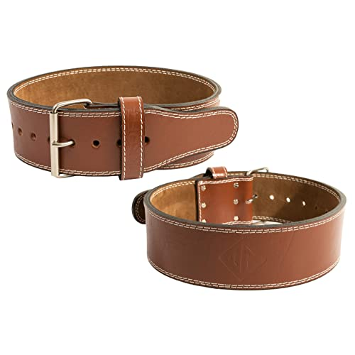 Squats Powerlifting UKKO FIT 4-Inch-Wide by 10mm Thick Genuine Top Grain Leather Weight Belt Weightlifting Belt with Single Prong Buckle for Deadlifts Weight Lifting Belt Crossfit
