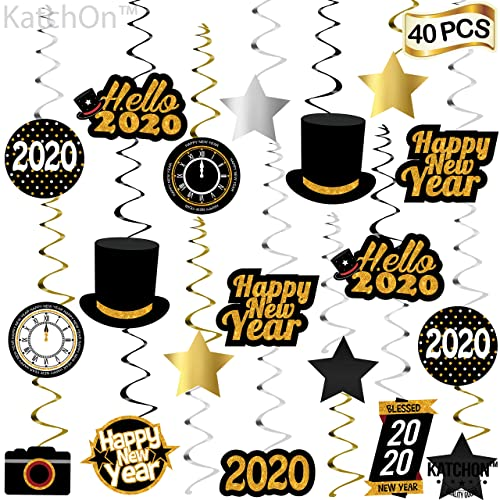 Buy Happy New Year Hanging Swirl Pack Of 40 Sturdy 2020 New Years Eve Swirls New Years Eve Party Supplies 2020 New Year Party Decoration Hollywood Oscar
