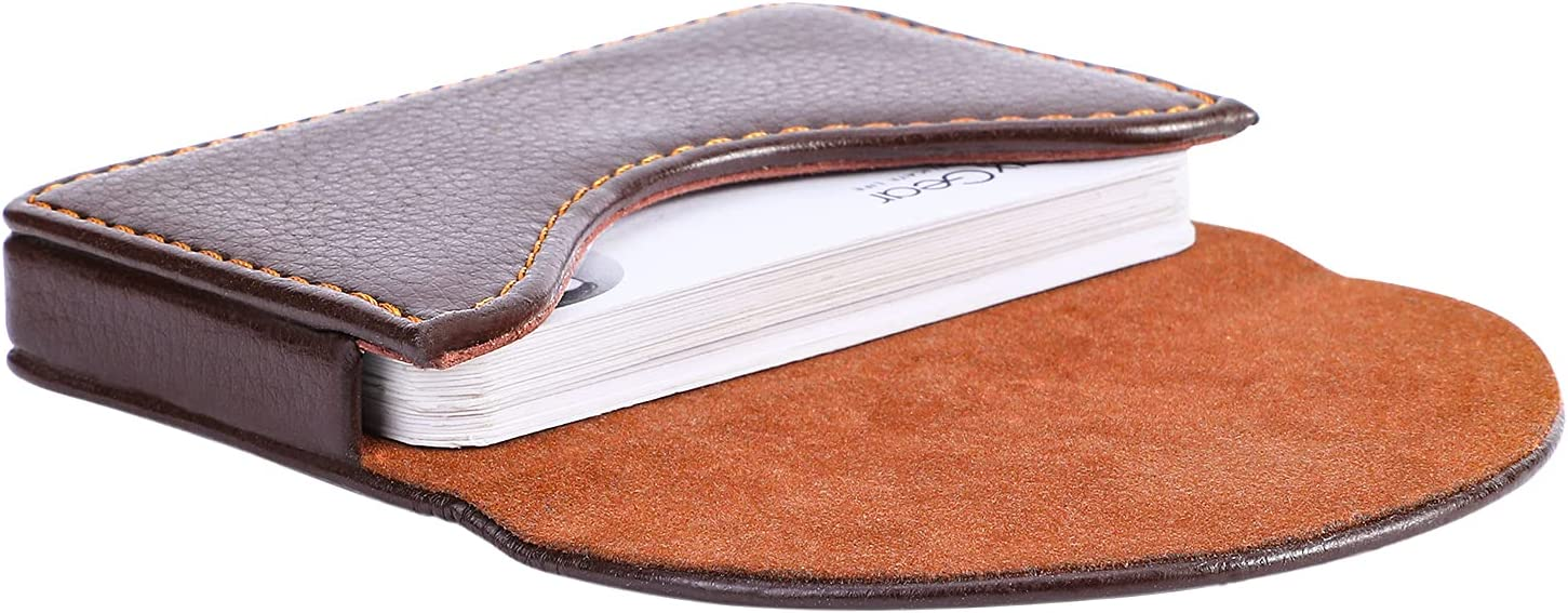 Buy MaxGear Business Card Holder, PU Leather Business Card Case ...